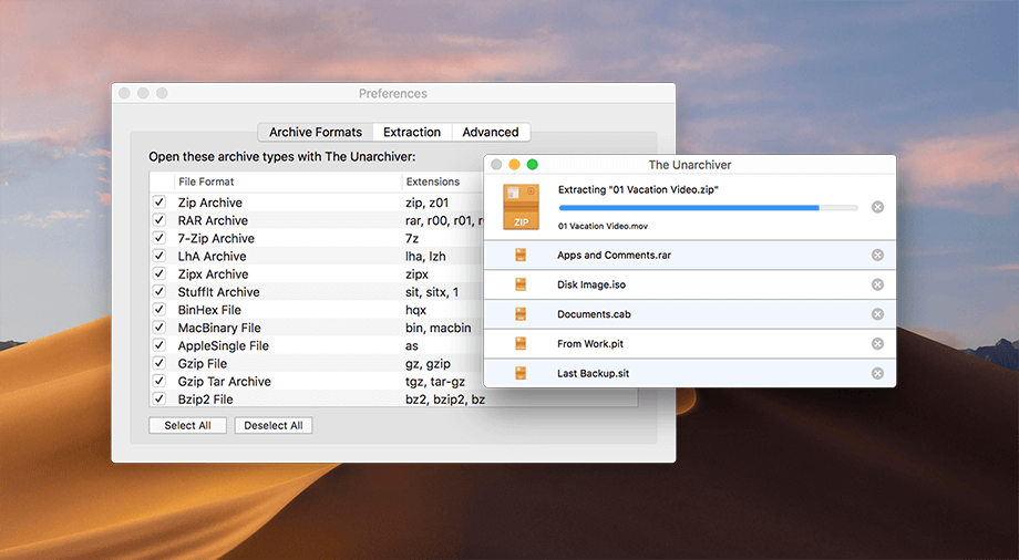 Unarchiver for Mac